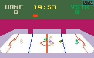 In-game screen of the game NHL Hockey on Mattel Intellivision