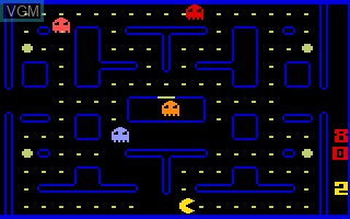 In-game screen of the game Pac-Man on Mattel Intellivision
