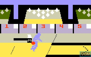 In-game screen of the game PBA Bowling on Mattel Intellivision