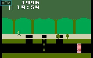 In-game screen of the game Pitfall! on Mattel Intellivision