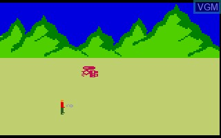 In-game screen of the game Robot Rubble V3 on Mattel Intellivision