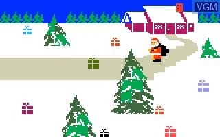 In-game screen of the game Santa's Helper on Mattel Intellivision