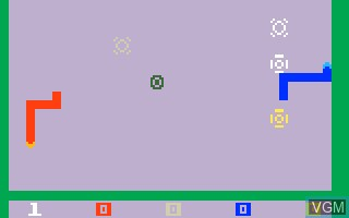In-game screen of the game Snafu on Mattel Intellivision
