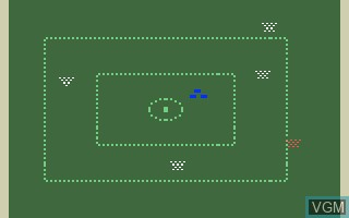 In-game screen of the game Space Battle on Mattel Intellivision