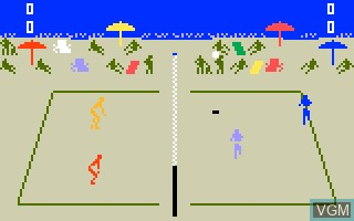In-game screen of the game Spiker! - Super Pro Volleyball on Mattel Intellivision