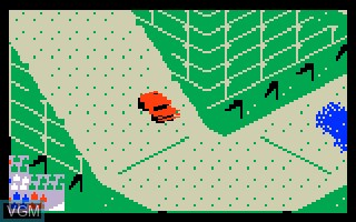 In-game screen of the game Stadium Mud Buggies on Mattel Intellivision