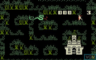 In-game screen of the game Thunder Castle on Mattel Intellivision