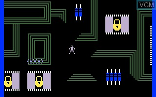 In-game screen of the game TRON - Maze-A-Tron on Mattel Intellivision