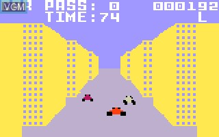 In-game screen of the game Turbo on Mattel Intellivision