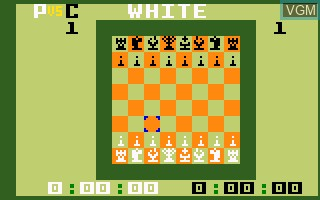 In-game screen of the game USCF Chess on Mattel Intellivision