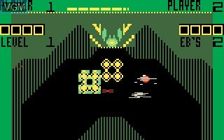 In-game screen of the game Vectron on Mattel Intellivision
