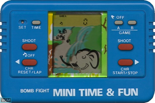 In-game screen of the game Bomb Fight on Electronic games