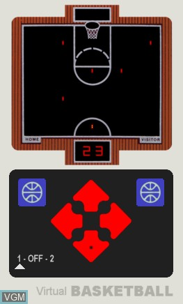 In-game screen of the game Basketball on Electronic games