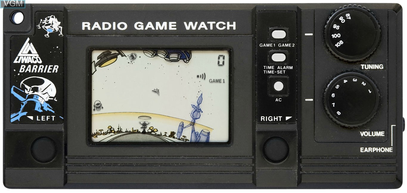 In-game screen of the game Barrier on Electronic games