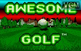 Title screen of the game Awesome Golf on Atari Lynx