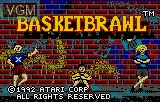 Title screen of the game Basketbrawl on Atari Lynx