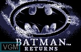 Title screen of the game Batman Returns on Atari Lynx