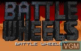 Title screen of the game Battle Wheels on Atari Lynx