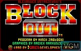 Title screen of the game Block Out on Atari Lynx