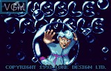 Title screen of the game Bubble Trouble on Atari Lynx