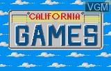 Title screen of the game California Games on Atari Lynx