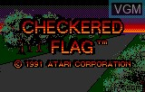 Title screen of the game Checkered Flag on Atari Lynx