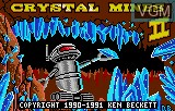 Title screen of the game Crystal Mines II on Atari Lynx