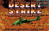 Title screen of the game Desert Strike - Return to the Gulf on Atari Lynx