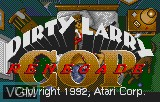 Title screen of the game Dirty Larry - Renegade Cop on Atari Lynx