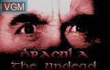 Title screen of the game Dracula - The Undead on Atari Lynx