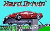 Title screen of the game Hard Drivin' on Atari Lynx
