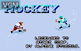 Title screen of the game Hockey on Atari Lynx