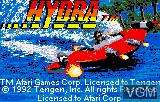 Title screen of the game Hydra on Atari Lynx