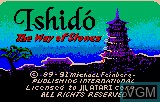 Title screen of the game Ishido - The Way of the Stones on Atari Lynx