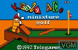 Title screen of the game Krazy Ace Minature Golf on Atari Lynx