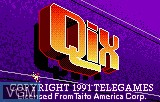 Title screen of the game Qix on Atari Lynx