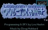 Title screen of the game Rygar - Legendary Warrior on Atari Lynx
