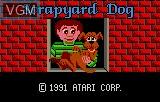 Title screen of the game Scrapyard Dog on Atari Lynx