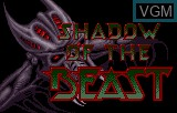 Title screen of the game Shadow of the Beast on Atari Lynx
