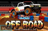 Title screen of the game Super Off-Road on Atari Lynx