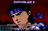 Title screen of the game Switchblade II on Atari Lynx