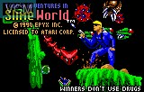 Title screen of the game Todd's Adventure in Slime World on Atari Lynx
