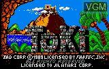Title screen of the game Toki on Atari Lynx