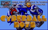 Title screen of the game Tournament Cyberball 2072 on Atari Lynx