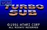 Title screen of the game Turbo Sub on Atari Lynx