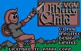 Title screen of the game Viking Child on Atari Lynx