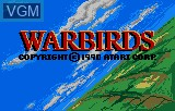 Title screen of the game Warbirds on Atari Lynx