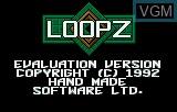 Title screen of the game Loopz on Atari Lynx