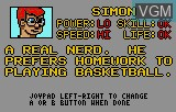 Menu screen of the game Basketbrawl on Atari Lynx