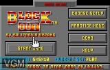 Menu screen of the game Block Out on Atari Lynx